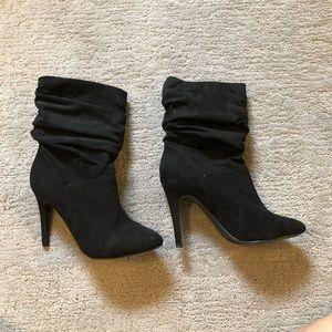 Shoes - Black scrunchy ankle boots